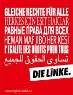 Linke Wahlplakat
